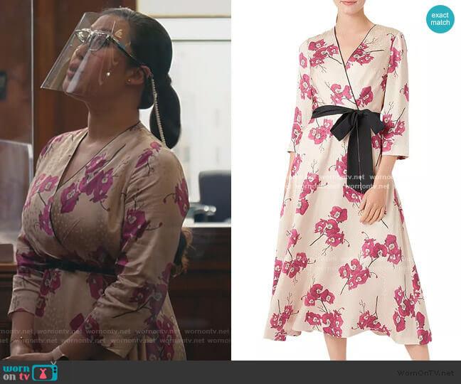 Hobbs London Nina Floral Faux-Wrap Dress worn by Sherri Kansky (Ruthie Ann Miles) on All Rise