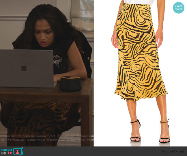 x REVOLVE Jodi Skirt  by House of Harlow 1960 worn by Olivia Baker (Samantha Logan) on All American