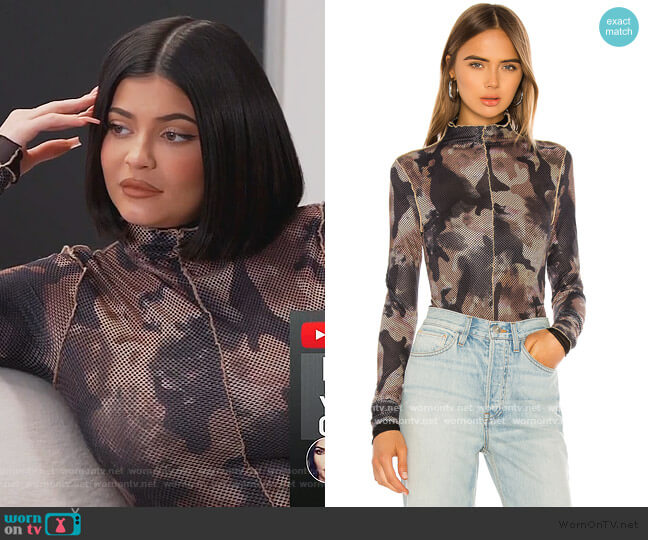 Elara Bodysuit by I AM GIA worn by Kylie Jenner  on Keeping Up with the Kardashians