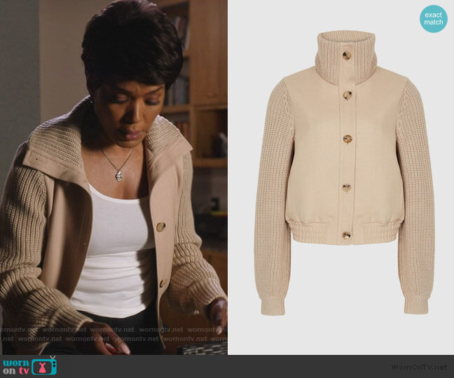 Iris Bomber Jacket by Reiss worn by Athena Grant (Angela Bassett) on 9-1-1