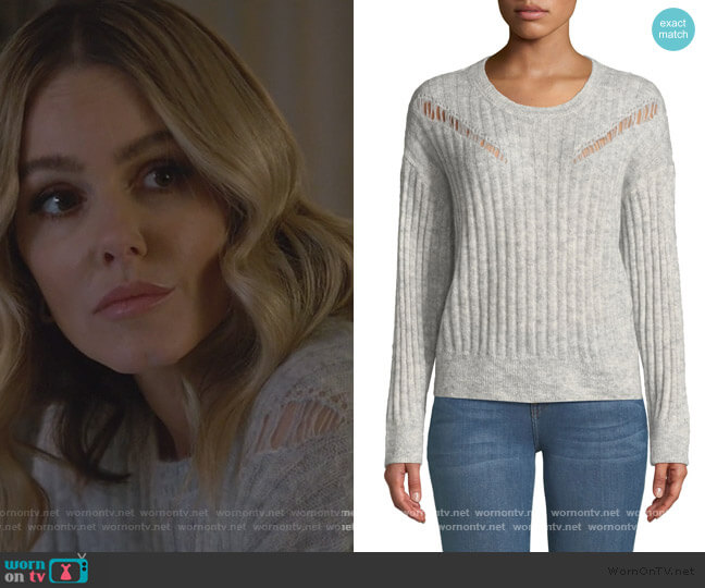 Opera Ribbed Pullover Sweater by IRO worn by Laura Baker (Monet Mazur) on All American