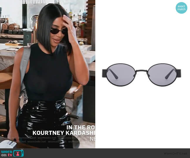 Indra Sunglasses by Carolina Lemke x Kim Kardashian West worn by Kim Kardashian  on Keeping Up with the Kardashians