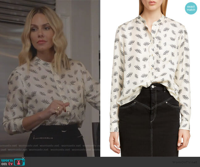 Fan Print Silk Blouse by Isabel Marant worn by Laura Baker (Monet Mazur) on All American