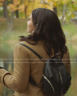 Jane's black small backpack on The Bold Type