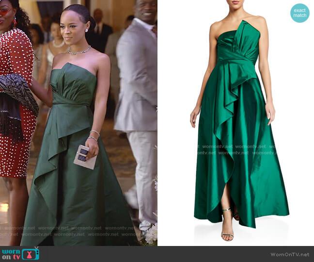 Callie Strapless Taffeta Gown by Jay Godfrey worn by Tiana Brown (Serayah McNeill) on Empire
