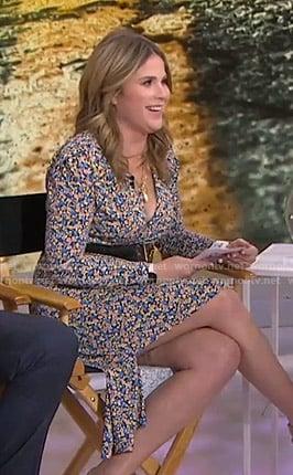 Jenna's floral v-neck dress on Today