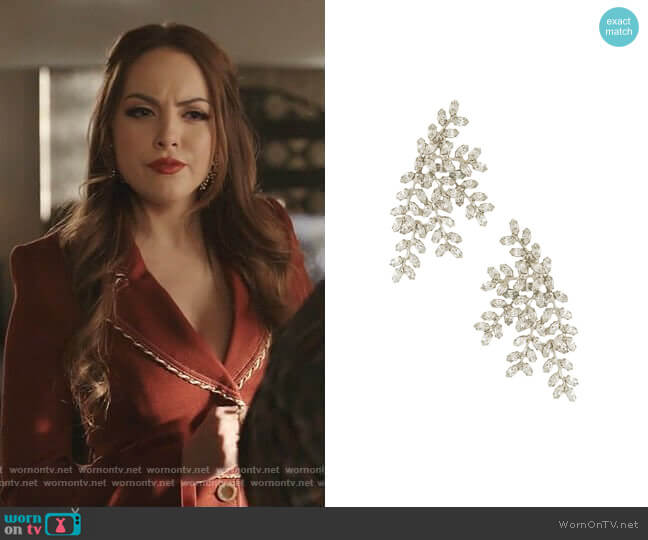Viinessa Earring by Jennifer Behr worn by Fallon Carrington (Elizabeth Gillies) on Dynasty