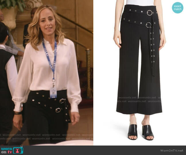 Jessi Double Belt Pants by Cinq a Sept worn by Teddy Altman (Kim Raver) on Greys Anatomy