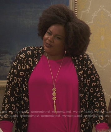 Trudy Judy's black leopard cardigan on Brooklyn Nine-Nine
