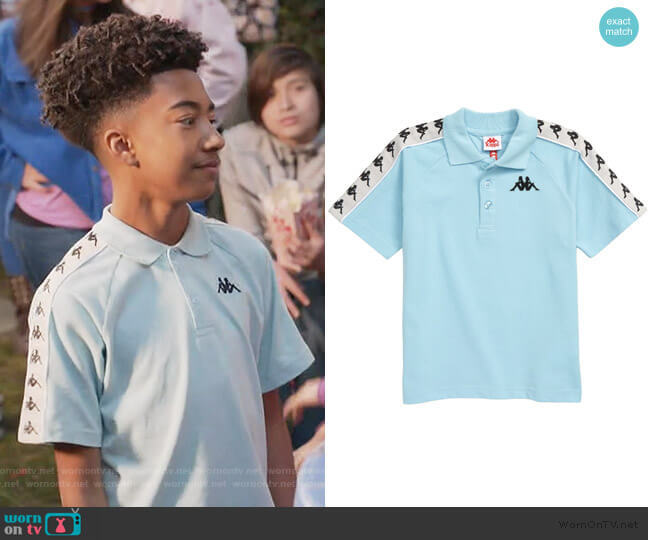 222 Banda Calsi Polo by Kappa worn by Jack Johnson (Miles Brown) on Blackish
