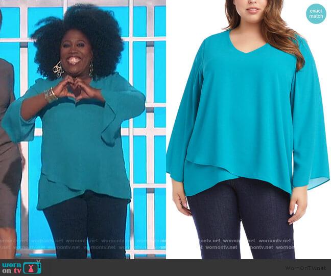 Slit Bell Sleeve Top by Karen Kane worn by Sheryl Underwood  on The Talk