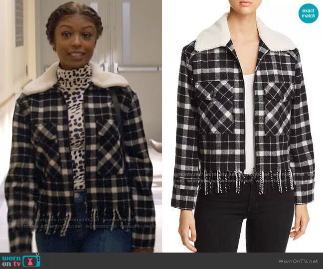 Kate Spade Rustic Plaid Jacket worn by Ali Finer (Javicia Leslie) on God Friended Me