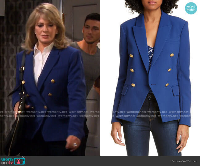 L'Agence Kenzie Blazer worn by Marlena Evans (Deidre Hall) on Days of our Lives