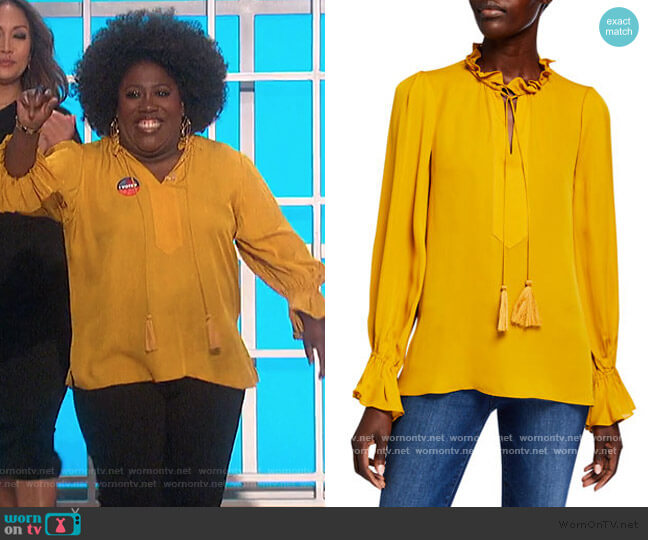 Cara Blouse by Kobi Halperin worn by Sheryl Underwood  on The Talk
