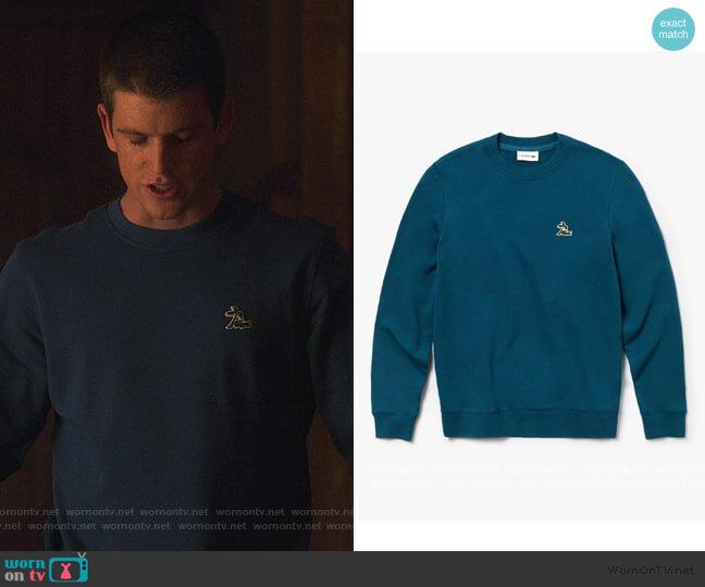 Crew Neck Fleece Sweatshirt by Lacoste worn by Guzman (Miguel Bernardeau) on Elite