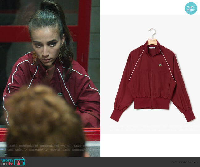 Ultra Light Short Jacket by Lacoste worn by Rebeca (Claudia Salas) on Elite