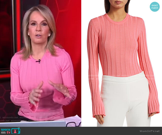Sherbert Ribbed Knit Pullover by Maggie Marilyn worn by Jennifer Ashton on GMA