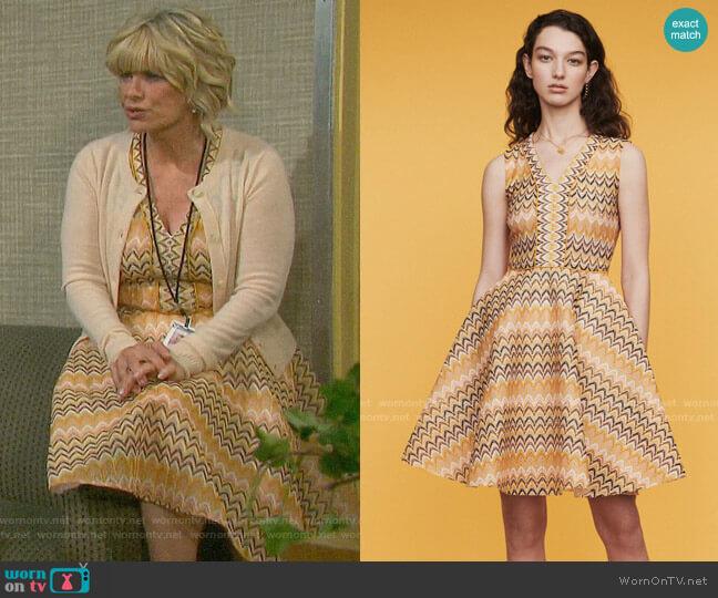 Maje Reinetta Dress worn by Kayla Brady (Mary Beth Evans) on Days of our Lives