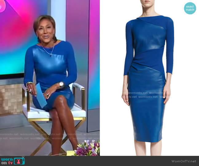 Malila Dress by Chiara Boni La Petite Robe worn by Robin Roberts  on Good Morning America