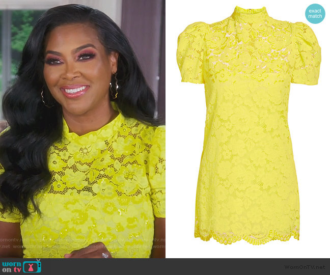 The Lace Shift Dress by Marc Jacobs worn by Kenya Moore  on The Real Housewives of Atlanta