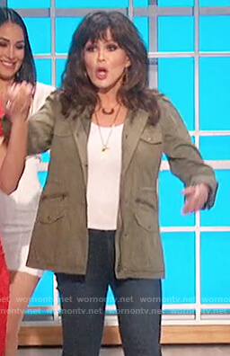 Marie's green utility jacket on The Talk