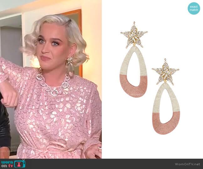 Desideria Earrings by Maryjane Claverol worn by Katy Perry  on American Idol