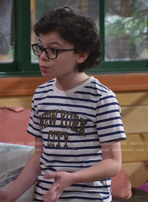 Matteo's New York City striped tee on Bunkd