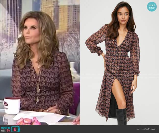 Maxine Dress by Wilfred worn by Maria Shriver  on Today