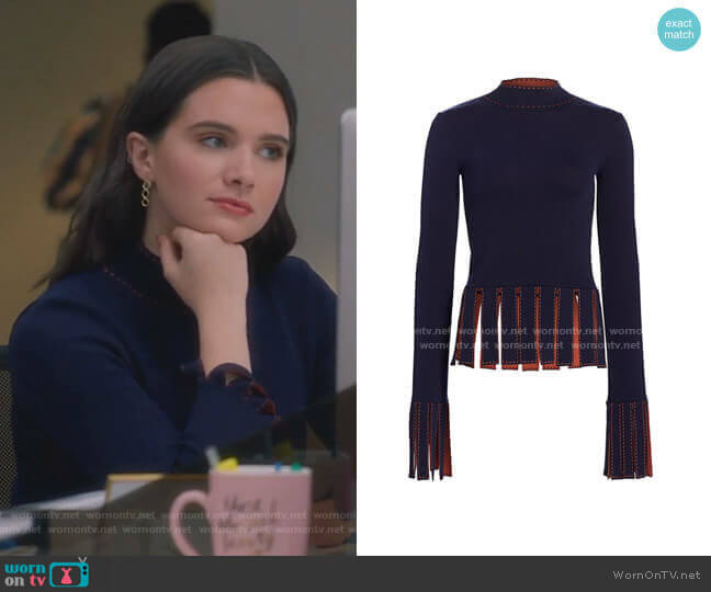 Mika Top by Staud worn by Jane Sloan (Katie Stevens) on The Bold Type