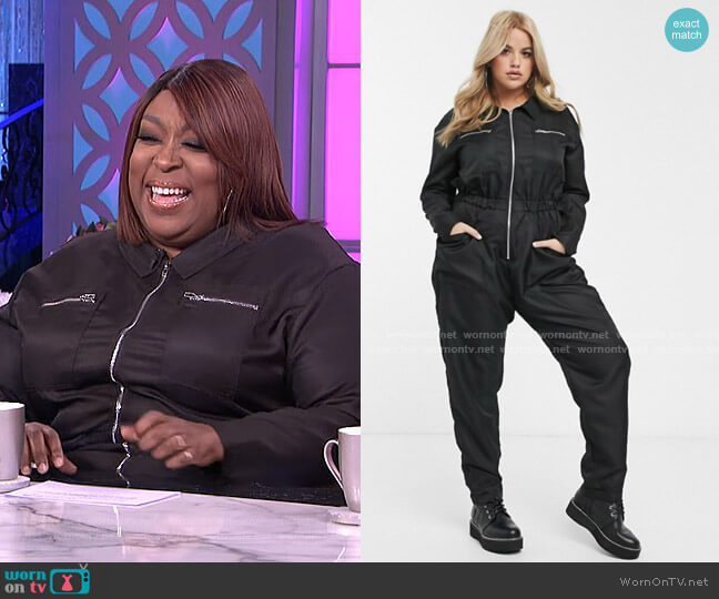Utility Jumpsuit by Missguided worn by Loni Love  on The Real