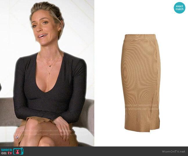 NSF Ribbed Knit Midi Skirt worn by Kristin Cavallari  on Very Cavallari