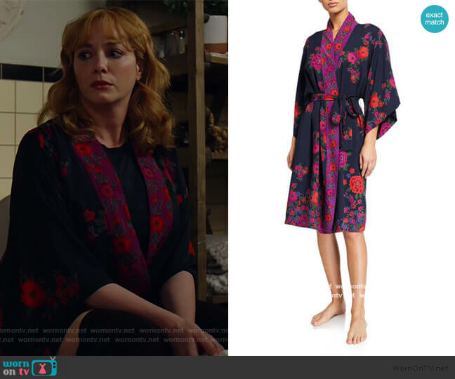 Botanica Floral-Print Robe by Natori worn by Beth Boland (Christina Hendricks) on Good Girls