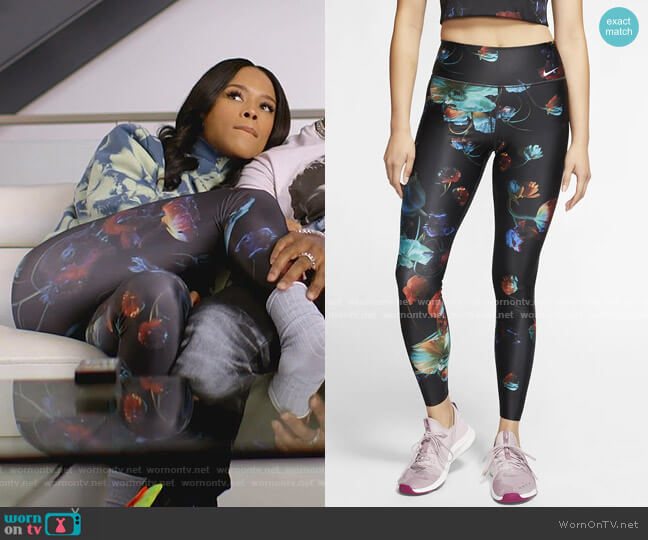 Floral Training Leggings by Nike worn by Tiana Brown (Serayah McNeill) on Empire