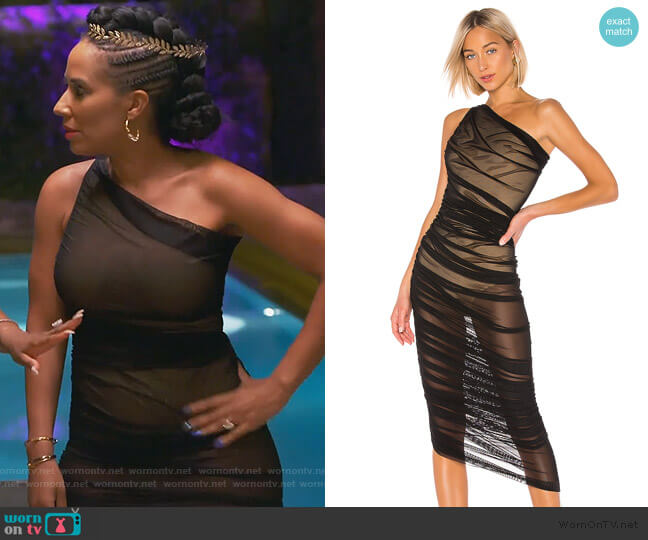 Diana Gown by Norma Kamali worn by Tanya Sam on The Real Housewives of Atlanta