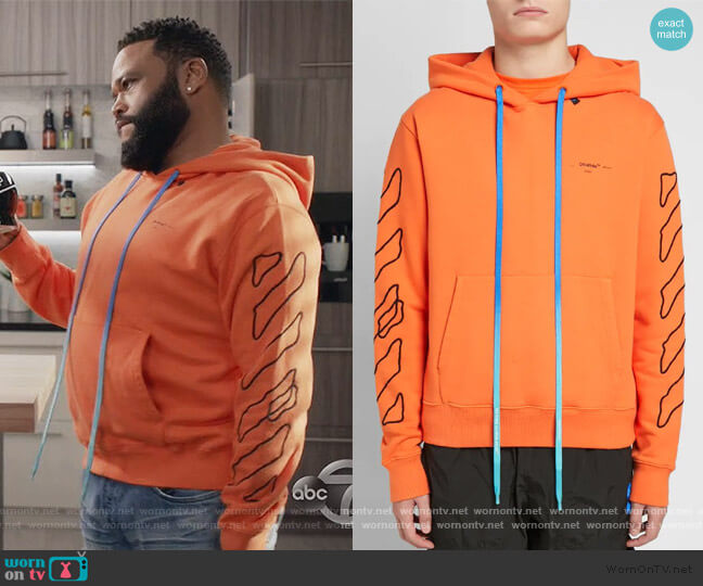 Abstract Arrows Slim Hoodie by Off White worn by Andre Johnson (Anthony Anderson) on Blackish