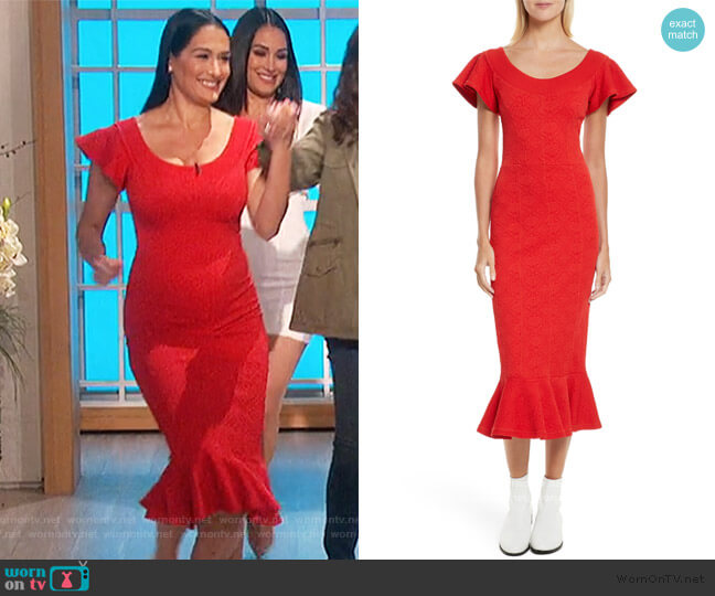 Lotus Jacquard Medallion Dress by Opening Ceremony worn by Nikki Bella on The Talk