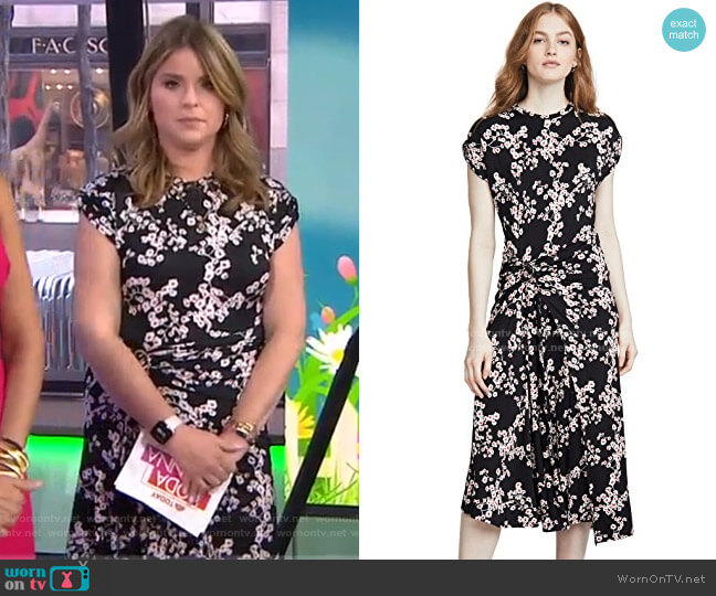 Blossom Dress by Paco Rabanne worn by Jenna Bush Hager  on Today