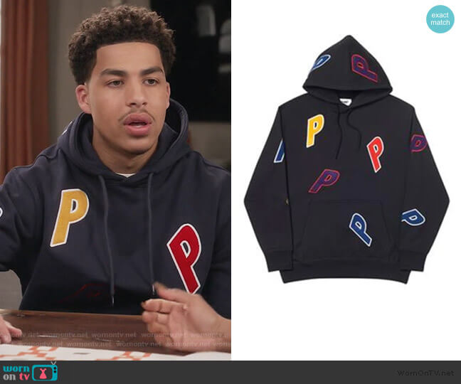 Palace Multiple P Hood Black worn by Andre Johnson Jr (Marcus Scribner) on Blackish