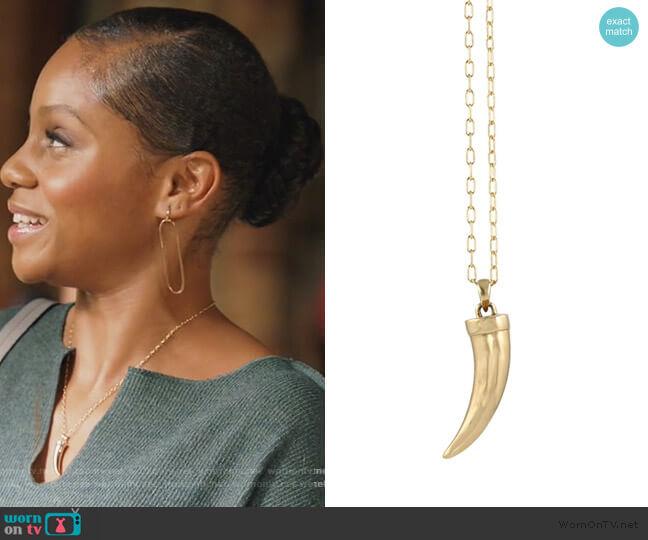 Bronze Horn Necklace by Peggi Li Geffri Maya on All American