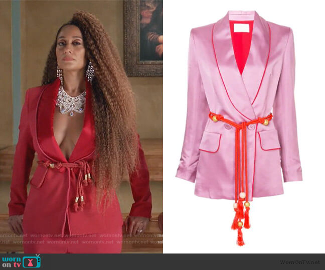 Belted Fitted Jacket by Peter Pilotto worn by Rainbow Johnson (Tracee Ellis Ross) on Blackish