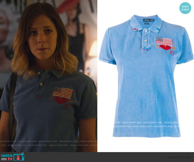 Embroidered Flag Polo by Ralph Lauren worn by Cayetana Grajera Pando (Georgina Amoros) on Elite