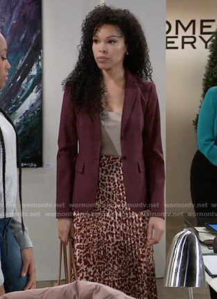 Portia's burgundy blazer on General Hospital