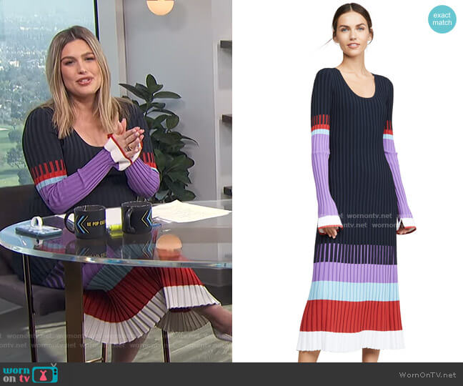 Scoop Neck Colorblock Dress by Prabal Gurung worn by Carissa Loethen Culiner  on E! News