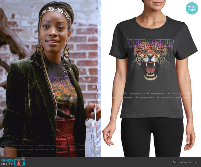 Tiger World Tour Graphic Cotton Tee by Prince Peter Collections worn by Yana (Kiandra Richardson) on Empire