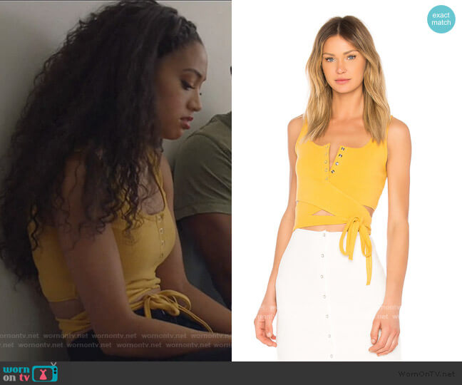 Orion Tank by Privacy Please worn by Olivia Baker (Samantha Logan) on All American