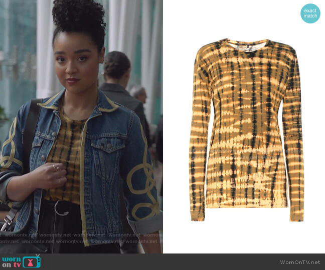 Tie-dye Cotton Shirt by Proenza Schouler worn by Kat Edison (Aisha Dee) on The Bold Type