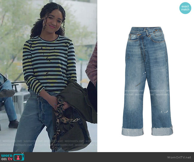 Crossover Jeans by R13 worn by Kat Edison (Aisha Dee) on The Bold Type