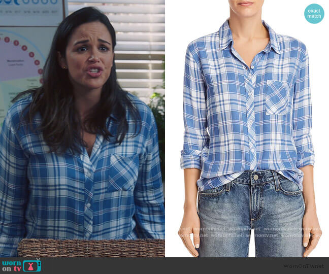 Hunter Plaid Shirt by Rails worn by Amy Santiago (Melissa Fumero) on Brooklyn Nine-Nine