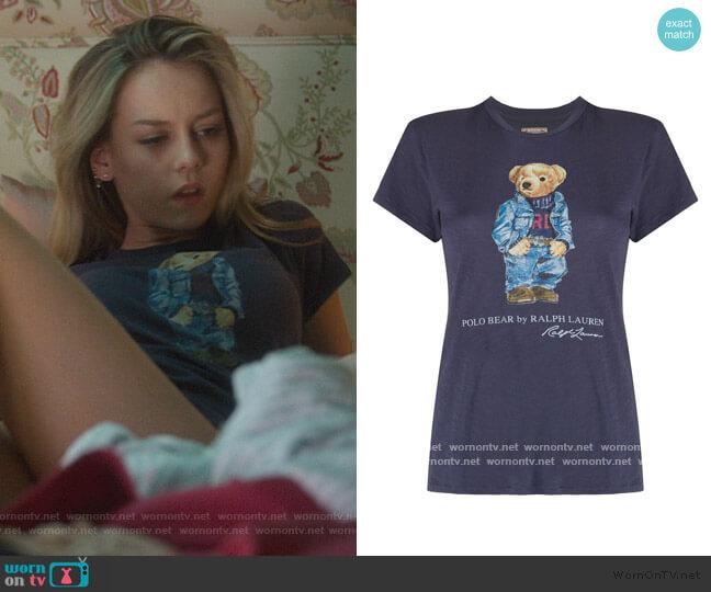 Polo Bear T-Shirt by Polo Ralph Lauren worn by Carla Roson Caleruega (Ester Exposito) on Elite