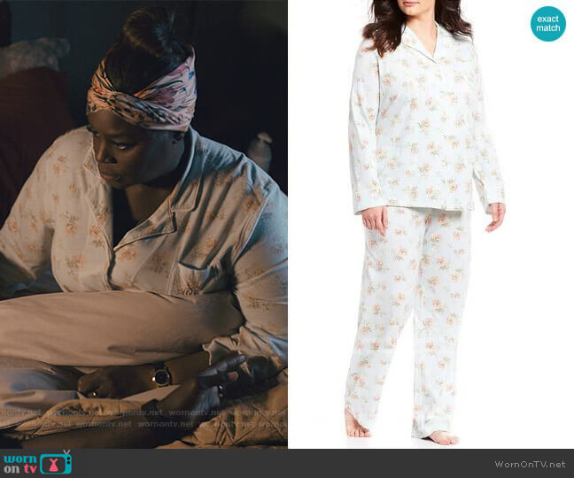 Floral Print Pajamas by Ralph Lauren worn by Ruby Hill (Retta) on Good Girls